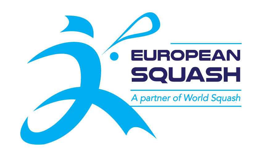 European Squash Logo Cyan Dark Blue Copy