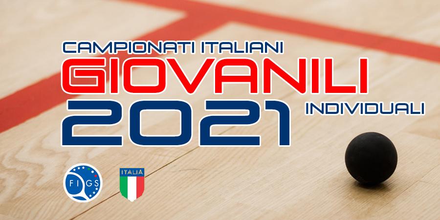 2021 GIOVANILI INDIVIDUALI